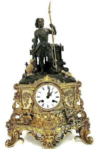 French Louis XVI Pendulum Mantel Clock P.L. Hausberg Paris Bronze Marble Gilded