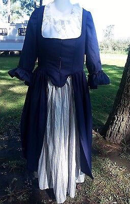 18th Century Historical Reproduction Polonaise Dress size 52 Bust