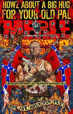 """MERLE DIXON THE WALKING DEAD ZOMBIE PIN UP PRINT """"YOUR OLD PAL MERLE"""""""