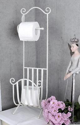 WC Rollenhalter Antikstil Toilettenpapierständer shabby chic Klopapierhalter neu