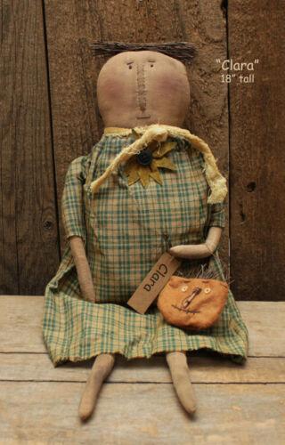 "Primitive 18"" CLARA Doll -- Country Farmhouse -- Fall Harvest"