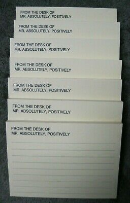 Lot7 Vtg Post It Notes Pads From The Desk Of Mr Absolutely Positively