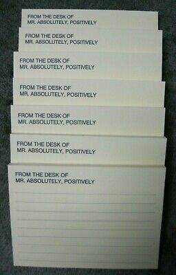 Setlot7 Vintage Post It Notes Pads From The Desk Of Mr Absolutely Positively