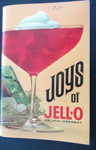 Joys of Jell-O Gleatin Dessert Recipes Cookbook Vintage Booklet... ......j