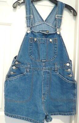 Vintage Overalls & Jumpsuits GASOLINE SIZE L BLUE DENIM OVERALL SHORT 2 POCKETS. EUC $14.99 AT vintagedancer.com