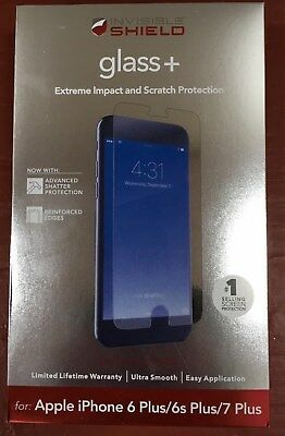 Zagg Invisible Shield Glass   For Apple Iphone 6 Plus 6S Plus 7Plus