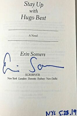 Erin Somers, STAY UP WITH HUGO BEST *Signed, Dated & NYC* 2019 HCDJ