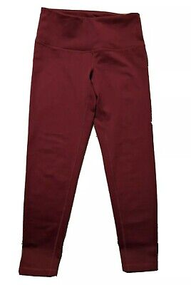Zella leggings Crop Maroon Berry Red Wine Size Small NWOT