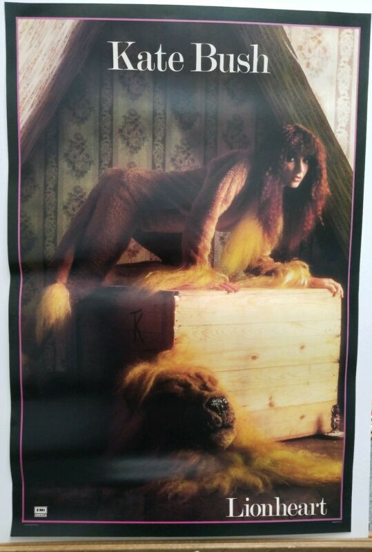 "Kate Bush Lionheart Vintage Poster 1978 EMI Records Pop Rock 30""×20"" Rare"