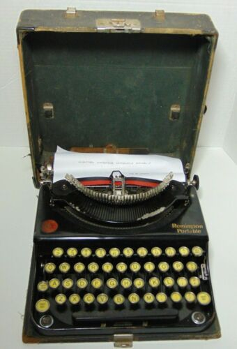 Working Antique Vintage 1923 REMINGTON PORTABLE TYPEWRITER SERIAL NUMBER NC36925