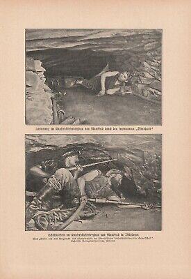 Bergleute Kupferschieferbergbau from Leicester in Thuringia Print 1908 Mining