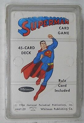 Whitman SUPERMAN CARD GAME - 1966 Vintage Card Game (Complete)