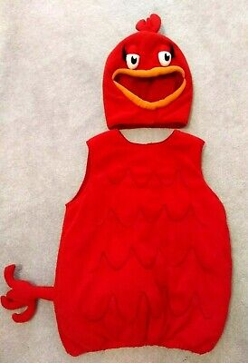 Pottery Barn Kids Size 7/8 Dr. Seuss Red Fish Halloween 2 Piece Costume