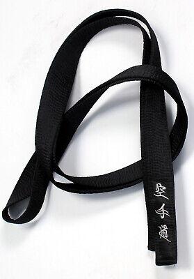 karate black belt Satin with SILVER Embroidery Master grade Martial Arts Sensei