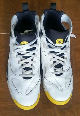 Men's Nike Huarache high top basketball shoes. White w/gold trim. Size 15 (US) (Men High Top Nike Shoes)