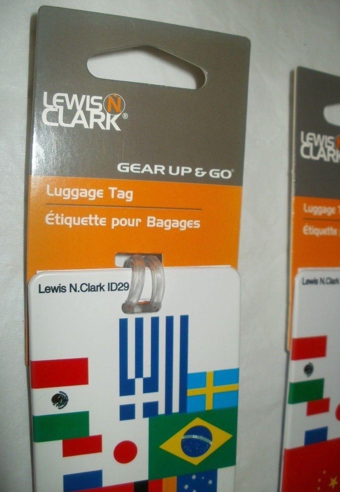 4 NEW - INTERNATIONAL FLAGS - Lewis N Clark - Luggage / Bags Tag Identification  - $19.00