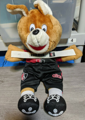 "HTF Club Atlas Zorros Soccer 16"" Plush Mascot Stuffed Animal Souvenir Toy Corona"