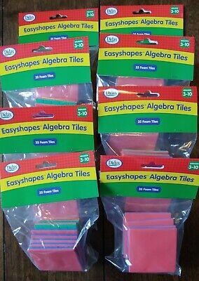 Algebra Tiles Foam Easyshapes Lot of 8, 35 piece Sets Classroom Homeschool - Algebra Tiles Classroom Set