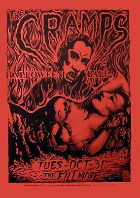 Cramps Halloween Ball By Philip Cooper Fillmore Auditorium 1989 Red Paper (Phillip Halloween)
