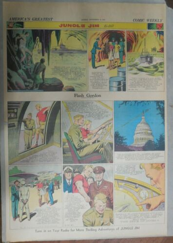 Flash Gordon Sunday by Alex Raymond from 9/14/1941 Large Full Page Size !