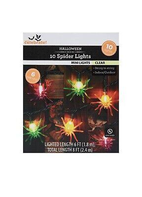 Way To Celebrate Halloween 10 Spider Mini Lights New