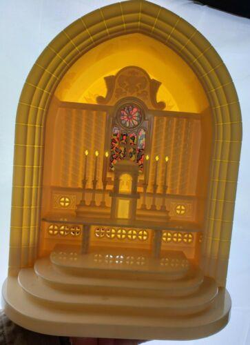 VTG Christmas Paramount Raylite Church Altar Musical Music Plastic NO LIGHT CORD