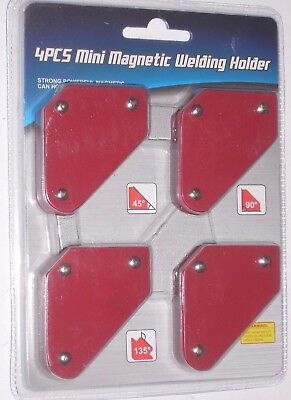 4pc Welding Arrow Magnet Set Mini Weld Holder Up To 9 Lb At 45 90 Or 135 Deg