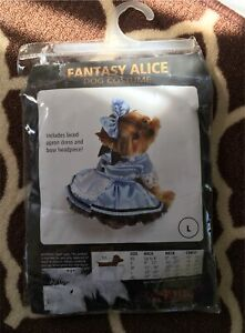 Brand new Fantasy Alice dog costume