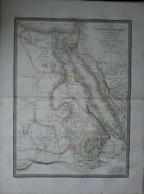 Große Antike Karte (Karte Geografische Antike Ägypten / Nubia / Abissinie Groß Format 1829)