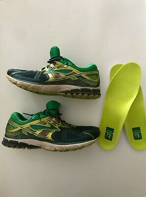 Brooks Mens Ravenna 6 Green Running Shoes Size 10.5 Medium w/ New Insoles