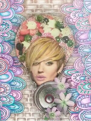 Urban Goddess. Mixed Media Surrealistic Collage