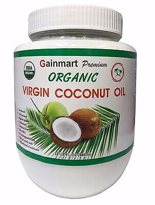 Gainmart Regard Organic Virgin Coconut Oil 100% Pure Highest Quality 32 FL OZ