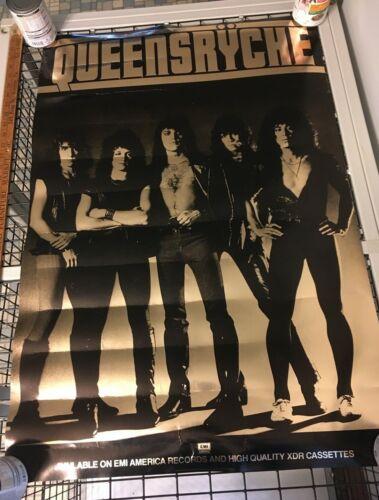 1983 Queensryche Metallic Gold EMI Promo Poster 36X24 Original