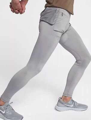 8fbc3da1c143 Nike X Gyakusou Utility Running Pants Tights Silver Pewter Grey Medium
