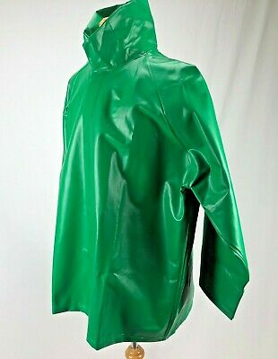 Tingley Magnaprene Flame Resistant Rain Jacket With Hood Olive Size Xl