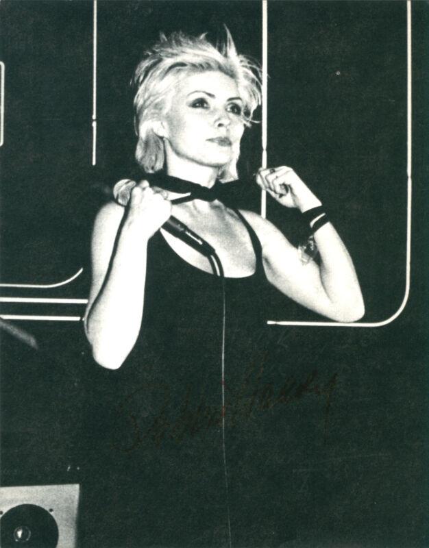 Blondie - Debbie Harry Original 1979 Official Fan Club Postcard