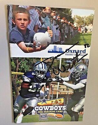 JASON WITTEN SIGNED Cowboys 2006,2008, 2010 & 17 Training Camp Program pamphlets