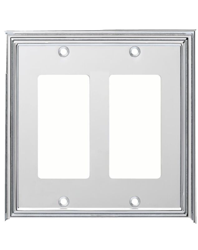 Liberty Chrome 2-Gang Decorator/Rocker Wall Plate 1-Pack W36286-PC-C