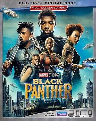 Black Panther Blu Ray Digital Hd With Slip Cover New
