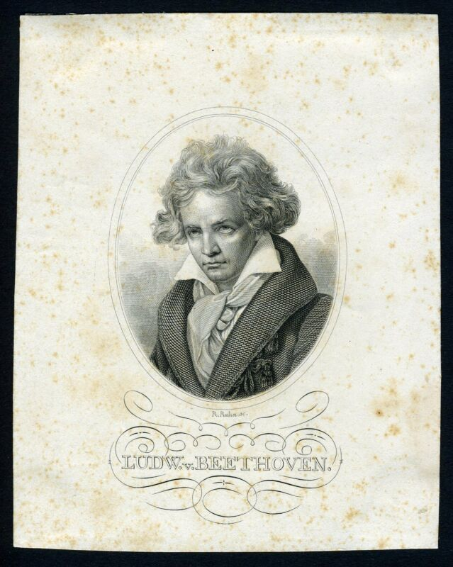 Ludwig van BEETHOVEN (Composer): Engraved Portrait
