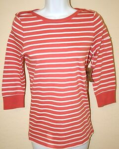 NWT-Womens-LUCKY-BRAND-Cotton-Knit-Tee-Top-Blouse-3-4-Sleeves-Boat-Neck-MSRP-49