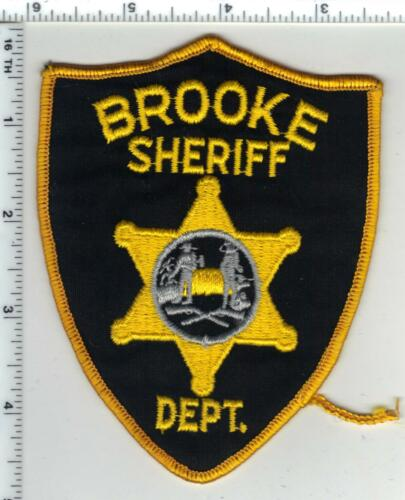 Brooke Sheriff Dept. (West Virginia) 1st Issue Smaller Narrow Shoulder Patch