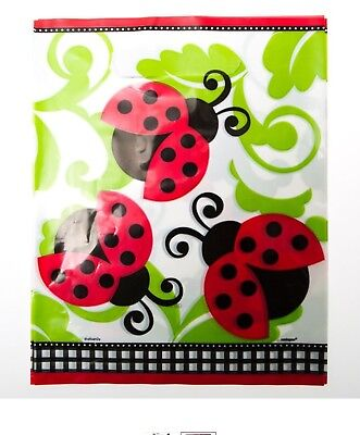 """LIVELY LADYBUGS"" Birthday Party Supplies 8 LOOT BAGS Treat Sacks - Ladybug Treat Bags"