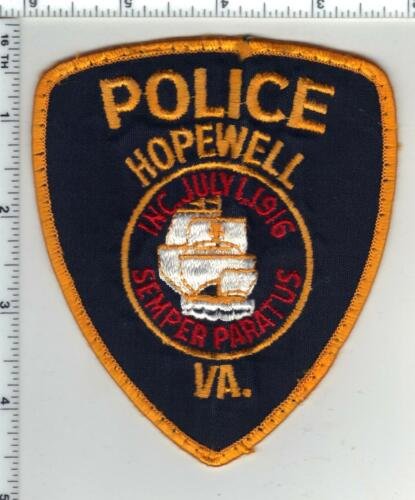 Hopewell Police (Virginia) 1st Issue Uniform Take-Off Shoulder Patch