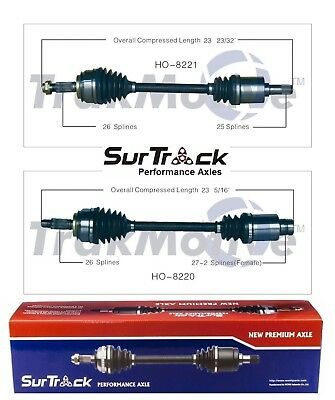 Honda Civic Front Cv Axle - For Honda Civic FWD 2006-2011 Hybrid Pair of Front CV Axle Shafts SurTrack Set