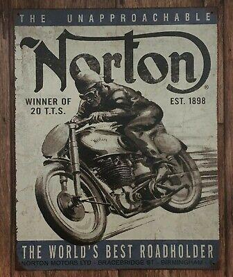 NORTON MOTORS SIGN / NORTON MOTORCYCLES SIGNS / BIRMINGHAM / GARAGE SIGNS MEN