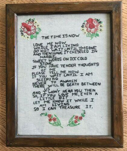 Finished! Vintage Primitive Embroidery Sampler