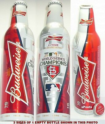 2011 WORLD SERIES ST.LOUIS CARDINAL MLB BASEBALL BUD ALUMINUM BOTTLE BEER CAN MO