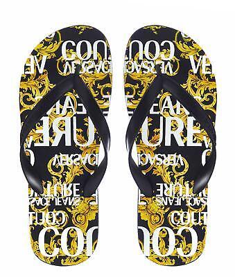 VERSACE Men's Shoes Sandals Black NIB Authentic 40 41 42 43 44 45