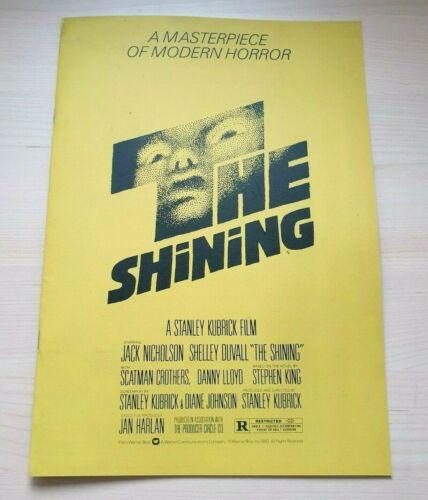 THE SHINING 2019 OFFICIAL PRESSKIT Jack Nicholson Stanley Kubrick Stephen King